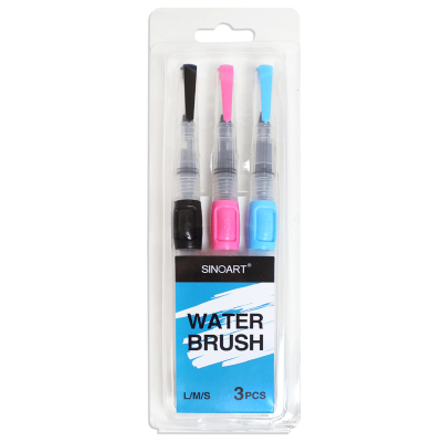 Water Brush Sinoart Kit Com 3 Unidades - Pincel Reservatorio