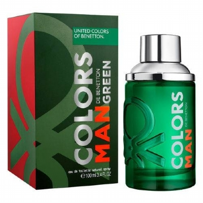 Colors Man Green Benetton - Perfume Masculino - Eau de Toilette - 100ml