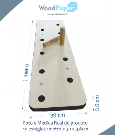 Peg Board Crossfit - 10 Estágios (1000 X 300 X 36mm)